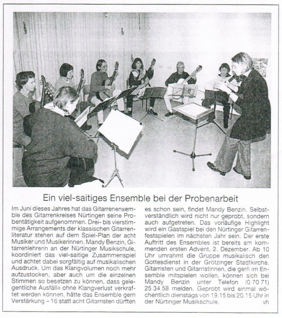 003 - NürtingerZeitung 24.11.2001