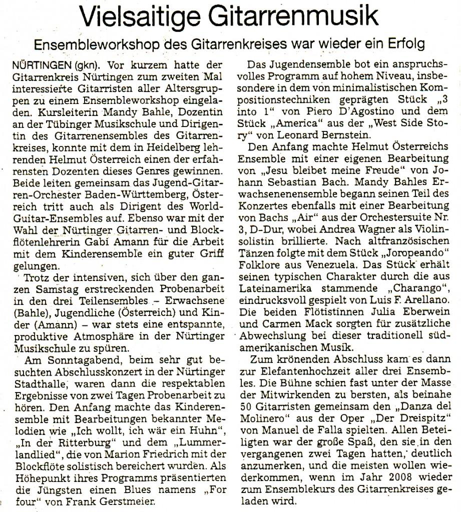 014 - NürtingerZeitung 29.4.2006